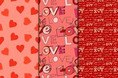 Valentine's day seamless pattern Stock Photos