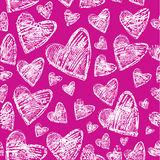 Valentine S Day. Seamless Pattern With Hearts Royalty Free Stock Photos