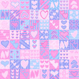Valentine's day seamless pattern. Seamless pattern for Valentine's day wrapping paper with hearts Stock Photos