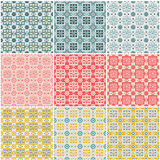 Valentine's day seamless patterns Stock Photography