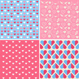 Valentine's Day Seamless Patterns Royalty Free Stock Image