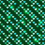 Valentine's Day seamless with shiny sequins Stock Image