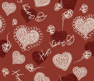 Valentines day. Seamless texture Royalty Free Stock Photos
