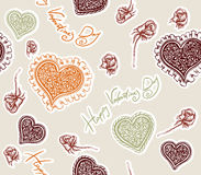 Valentines day. Seamless texture Stock Image