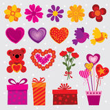 Valentine's Day Set Stock Photography