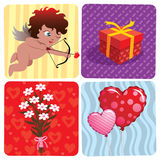 Valentine's Day Set. Vector illustration of various Valentine's Day elements Stock Image