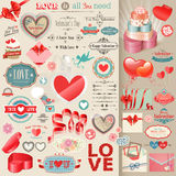 Valentine`s Day set. Stock Photos