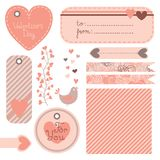 Valentine's Day set of design elements Royalty Free Stock Image