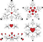 Valentine's Day set elements of card. Valentine's Day set elements of card with hearts Royalty Free Stock Photography