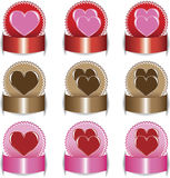 Valentine's Day, set elements of labels. Royalty Free Stock Image