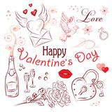 Valentine's Day Set Royalty Free Stock Photo