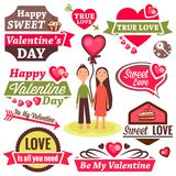 Valentine`s day set Stock Photos