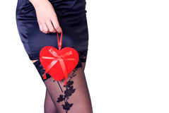 Valentine's Day - sexy woman with a heart Stock Photography