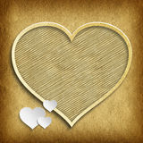 Valentine's Day - shapes of hearts on handmade paper background Stock Photo