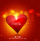 Valentine's day shiny heart background colorful design  il Stock Image