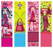 Valentine's day shopping banners royalty free illustration