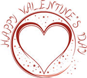 The Valentine's day sign Royalty Free Stock Image