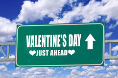 Valentine's day sign Stock Image