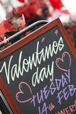 Valentine's Day Sign Outside Florist Stock Photos