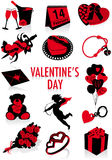 Valentine's Day silhouettes Royalty Free Stock Photo