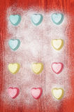 Valentine's Day Silicone molds for baking heart-shaped Royalty Free Stock Photos
