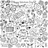 Valentine's Day Sketch Icons Stock Photography