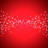 Valentine`s day special offer on red glitter background Stock Images