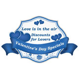Valentine`s Day Specials. Business advertising for the Day of Love 14th February. Print colors used Royalty Free Stock Photo