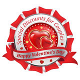 Valentine`s Day Specials. Business advertising for the Day of Love 14th February. Print colors used Royalty Free Stock Photos