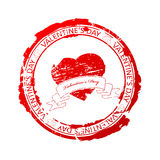 Valentine's Day stamp Royalty Free Stock Photos
