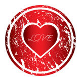 Valentine's Day stamp Royalty Free Stock Photography