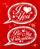 Valentine`s day stamps. Stock Photography