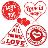 Valentine's Day stamps set Royalty Free Stock Photos