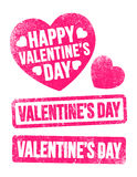 Valentine's Day stamps Stock Images