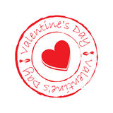 Valentine`s day stamps. On white background Royalty Free Stock Photo