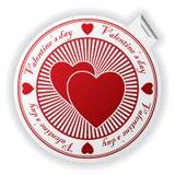 Valentine's day sticker Stock Photography