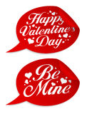 Valentine`s day stickers. Royalty Free Stock Image