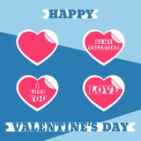 Valentine`s day stickers Royalty Free Stock Photography