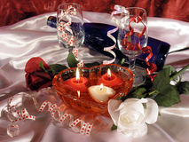 Valentine's Day Still Life Royalty Free Stock Photos