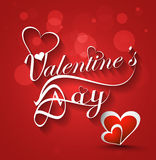 Valentines day stylish text card for heart colorfu Stock Photography