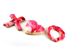 Valentine's Day Sugar Cookies Stock Image