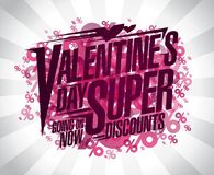 Valentine`s day super discounts Stock Photos