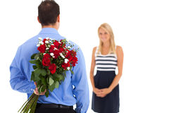 Valentine's day surprise royalty free stock photography