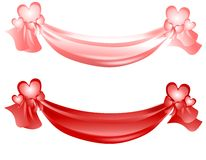 Valentine's Day Swag Ribbons and Bows Royalty Free Stock Photo