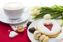 Valentine's Day sweets setup Stock Images