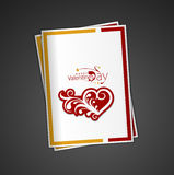 Valentine's day swirl design greeting card Stock Photo