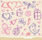 Valentine's day symbols Royalty Free Stock Photos