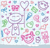 Valentine's day symbols Stock Photography
