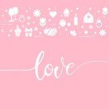 Valentine`s day symbols Stock Photo