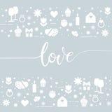 Valentine`s day symbols Royalty Free Stock Photo